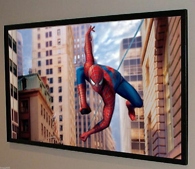 """140"""" Matte White Pvc Front Projection Projector Screen Fabric Bare Material 16:9"""