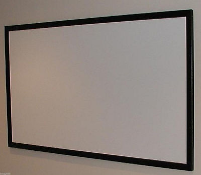 "110"" Bare / Raw Projector Projection Screen Material + Diy Plans For Fixed Frame"