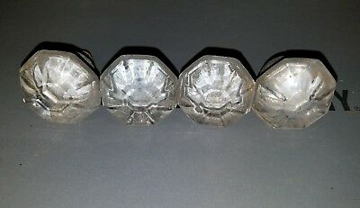 Lot of 5 Glass Dresser Knob Handle Pull Drawer OLD