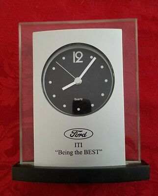Ford Motor Company Silver Desk Clock IT Employee Service Award