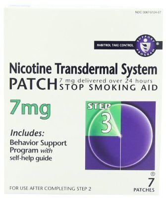 6 Pack - Habitrol® Nicotine Transdermal System Patch 7MG Step 3 7 Patches Each