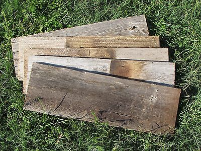 """Reclaimed Old Fence Wood Boards - 1 Fence Board 18"""" Weathered Barn Wood Planks"""