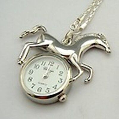New Girls or Ladies Watch .Silver Horse Pendant Necklace.End Of Stock!