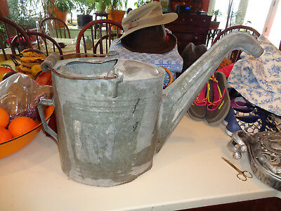 Old Vintage Galvanized Metal Watering Can ~ Primitive Garden Flowers Tool Decor