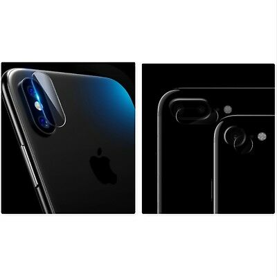 x2 iPhone 8 8Plus X Soft Tempered Glass Camera Lens Protector Back Protective