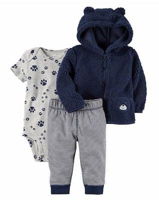CARTERS Newborn 3 6 9 12 18 24 Month Clothes Outfit Set Baby Boy Puppy Jacket