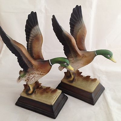 Flight of the Mallard Vintage Porcelain Special Edition Figurines Set of Two
