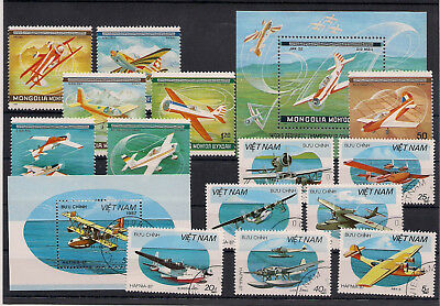 Briefmarken  - Lot - Motiv -  Flugzeuge (5)