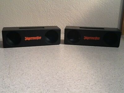 NEW Lot of 2 Jagermeister Cell Phone Wooden Amplifiers