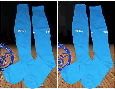 2 pairs New NIKE ZENIT ST PETERSBURG Blue Football Socks Youth Boys UK 2.5-7