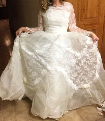 Vintage Alfred Angelelo Wedding Dress By Edythe Vincent 1950's Sealed Since 1964