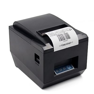 ESC/POS Thermal USB Square Wired Receipt Printer 80mm 300mm/s Printing -Auto Cut
