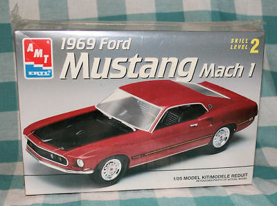AMT ERTL 1969 Ford Mustang Mach 1 1:25 Scale Model Kit Skill Level 2 Sealed Box