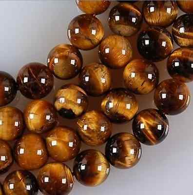 """15"""" Natural Grade 6mm African Roar Tiger Eye Stone Round Loose Beads strand"""