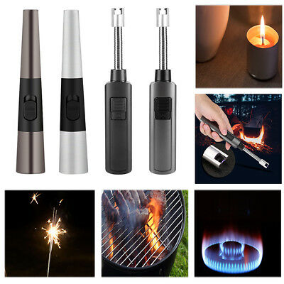 USB Rechargeable Electric Lighter for BBQ Candle Stove Kitchen Ignitor w/Cable H