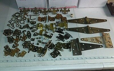 Vintage Hardware Large Lot Hinges Pulls & More Antique