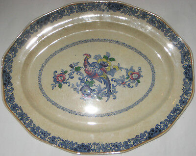 """Vintage / Antique Booths Silicon China Meat Serving Dish 16"""" x 13"""""""