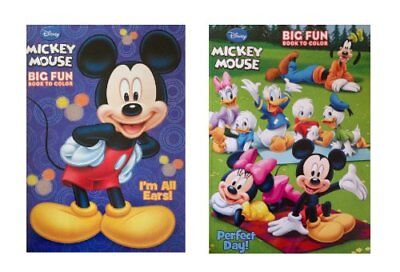 Disney Mickey Mouse Coloring Books Set of 2