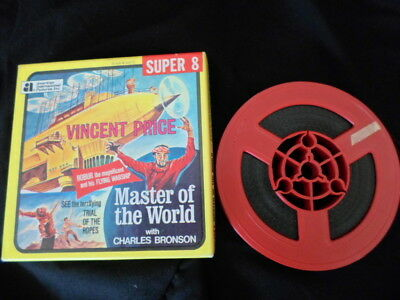 Super 8mm sound 1x200 MASTER OF THE WORLD. Vincent Price classic.