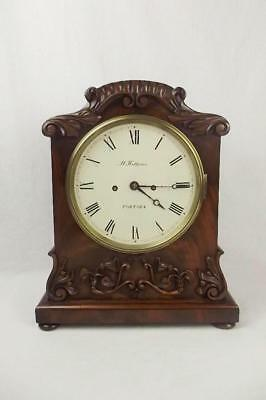 c1840 Mahogany Striking Double Fusee Bracket Clock By M. Ketterer Of Portsea