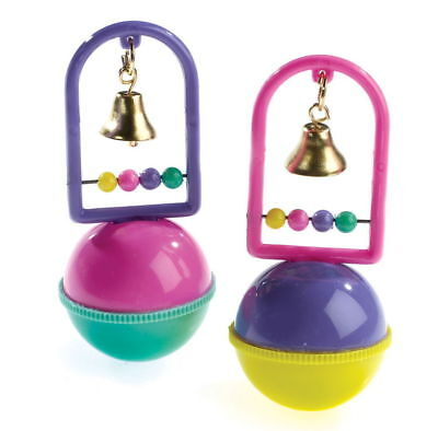Kelly Ball & Bell Bouy Caged Bird Interactive Bead & Bell Toy Budgies Parrotlets