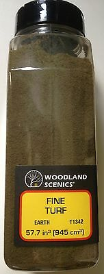 Woodland Scenics Fine Turf Earth # T1342 Factory Sealed