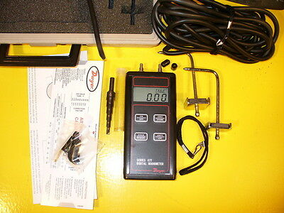 Dwyer Manometer Air Flow Test Gauge Meter Testing Kit Velocity Ductwork Hvac