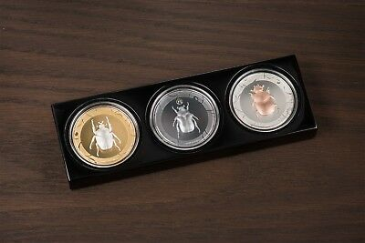SCARAB SELECTION II  3 x 1 oz proof silver coins set Cook islands 2017