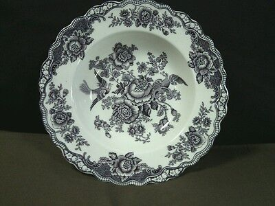 """Beautiful Antique Crown Ducal""""Bristol""""England Mulberry Rimmed Soup Bowl"""