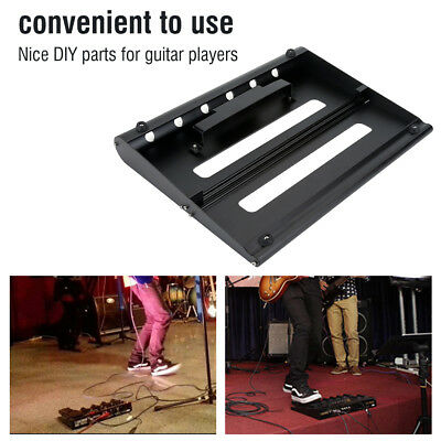 Black Alloy Pedalboards Electric Guitar Effects Pedal Board with Hook & LoopKit