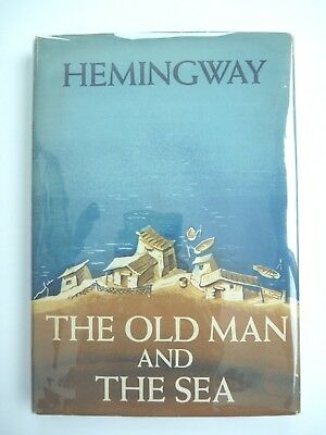 THE OLD MAN AND THE SEA by ERNEST HEMINGWAY 1952 1ST EDITION BCE HC/DJ w/ INSERT