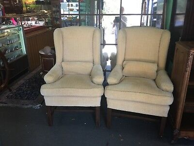 Pair of George III Style Wingback Back Chairs