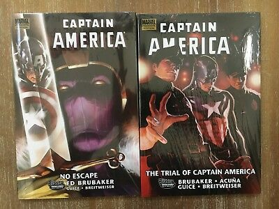 Lot of 2 Captain America Trial of Captain America & No Escape HC Hard Cover NEW!