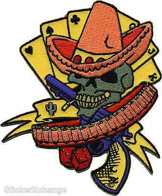 Bandito Gambler Embroidered Patch Art Dan Collins DCP9