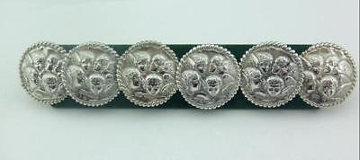 A Set Of 6 Antique Silver Buttons Reynold's Angels / Cupid Pattern  -1901
