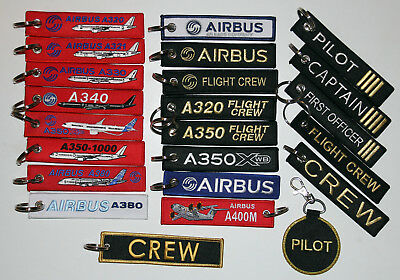 ++ KEYRINGS AIRBUS: A320 A330 A340 A350 A380, Flight Crew, Remove Before Flight