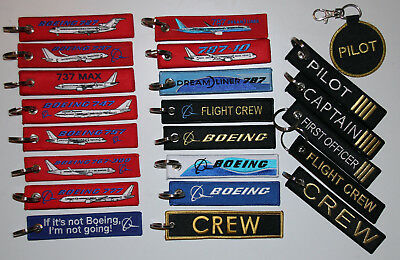 ++ KEYRINGS BOEING: 737 747 757 767 777 787, Flight Crew, Remove Before Flight