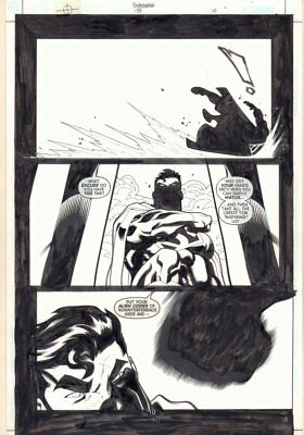 Superman #178 p.10 - Great Superman Silhouette - 2002 art by Ed McGuinness