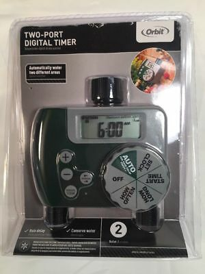 ORBIT 2-Port Digital Hose Timer - 2 Programmable Outlets - Manual ...