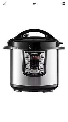 Gourmia GPC625 Smart Pot Multifunction Stainless Steel Pressure Cooker 6 Qt.