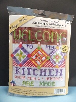 "BRAND NEW ""Welcome Kitchen"" by Design Works Plastic Canvas Kit"