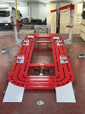 22 FEET LONG Auto Body Frame Machine 4 Towers With Clamps, Hooks ...