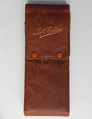 Soft case for shirt collars Art Deco 1930s wallet travel pouch for men or ladies