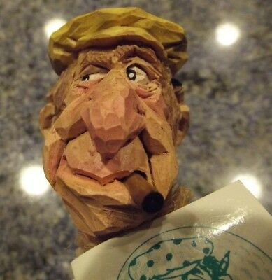 CHRIS HAMMACK BOTTLE STOPPER ACE the Golfer SPIT 'N' WHITTLE HANDMADE