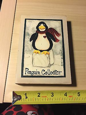 Penguin Collector Wooden Sign