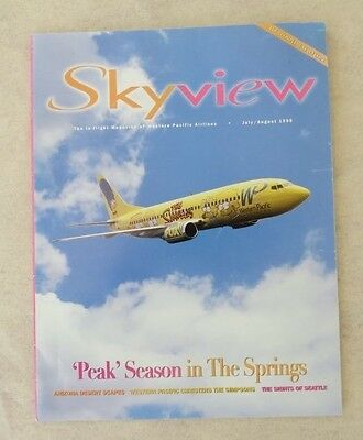 The Simpsons Airplane Skyview In-flight Magazine (July/Aug 1995)