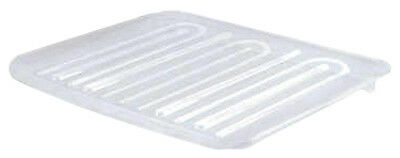 Drain Tray, Clear Plastic, Large, Rubbermaid, 1182-MA-CLR