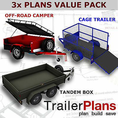 Trailer Plans - OFF ROAD CAMPER,TANDEM BOX & CAGE TRAILER PLANS - Plans on USB