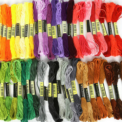 COTTON EMBROIDERY THREADS....ALL DIFFERENT - 50 skeins - similar to DMC colours