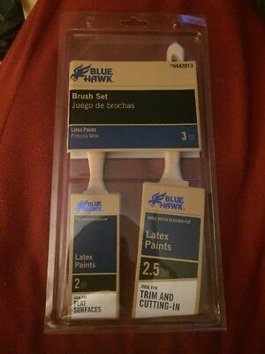 Blue Hawk 2-pack Trim Latex Paint Brush Set 2in Flat Surface And 2.5in Cutting